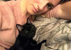 Cecily adopted black cat Camille Labchuk
